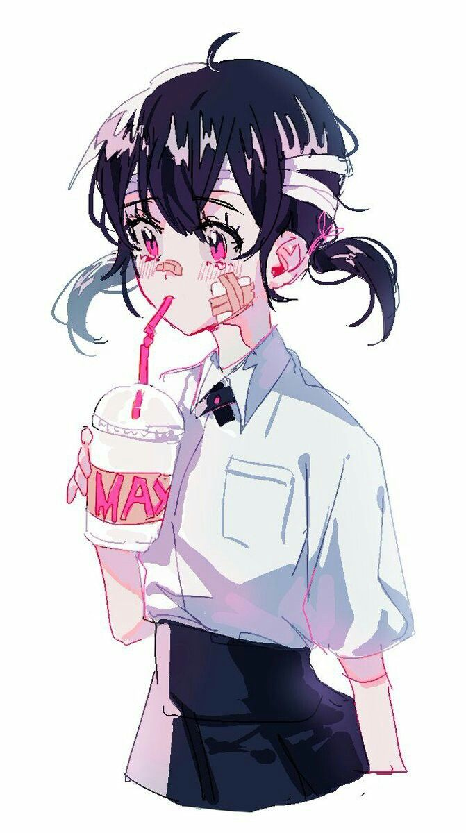 Яркие аниме девушки с короткими волосами 21