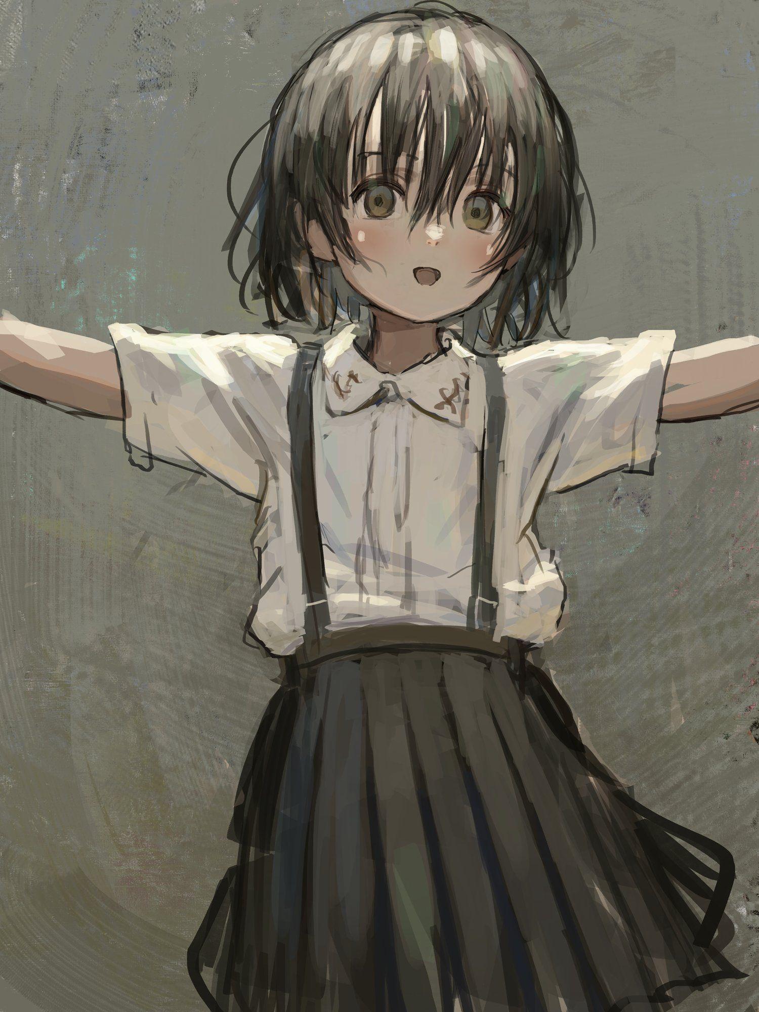 Яркие аниме девушки с короткими волосами 26