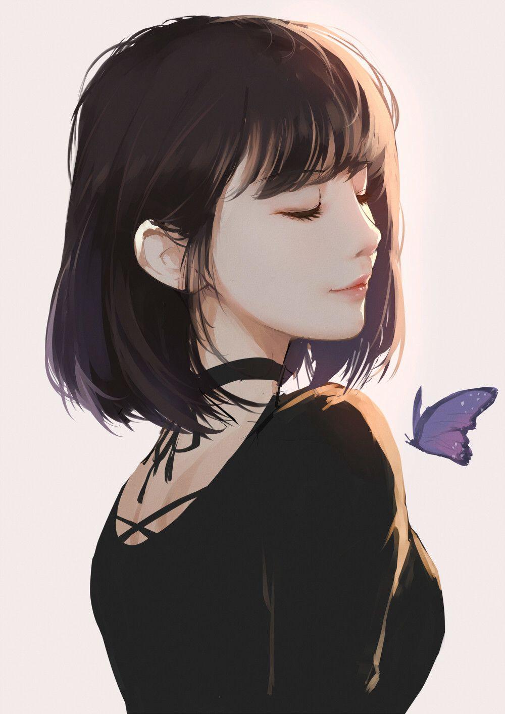 Яркие аниме девушки с короткими волосами 3