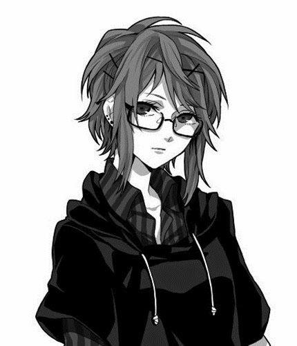 Яркие аниме девушки с короткими волосами 38