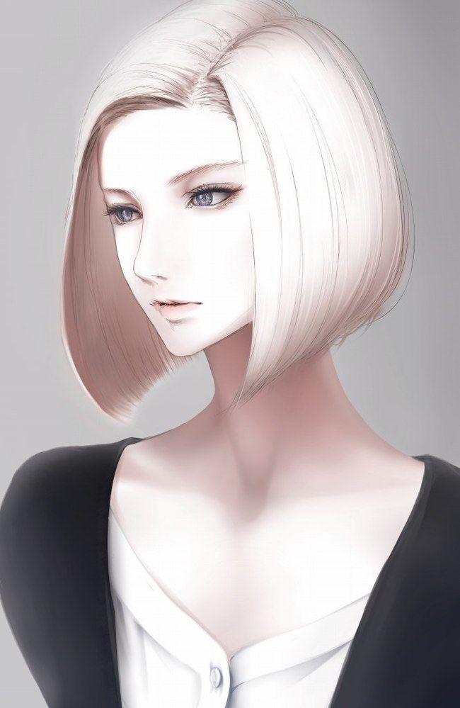 Яркие аниме девушки с короткими волосами 41