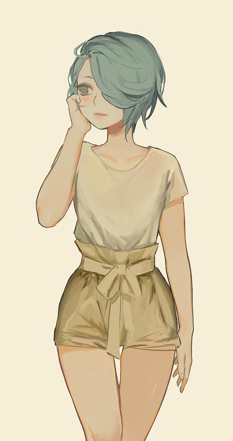 Яркие аниме девушки с короткими волосами 46