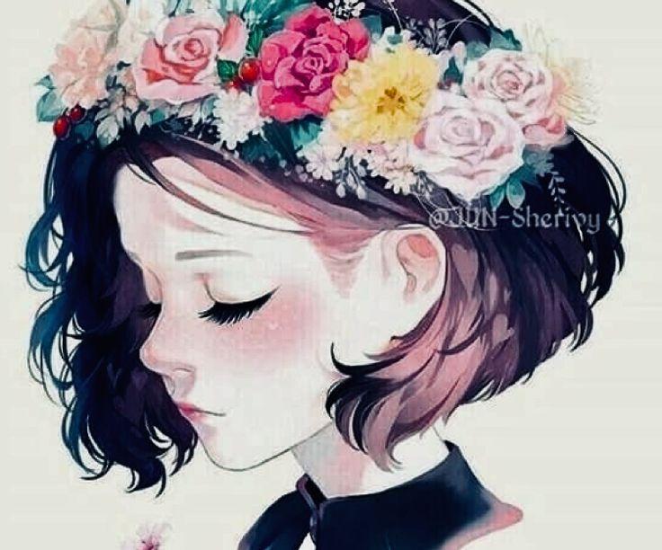 Яркие аниме девушки с короткими волосами 7