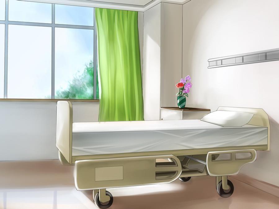Яркий фон коридора школы аниме 6