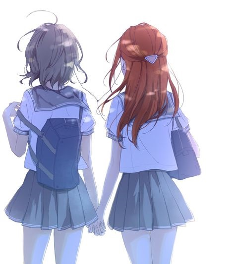 Аниме две подруги арты (14)