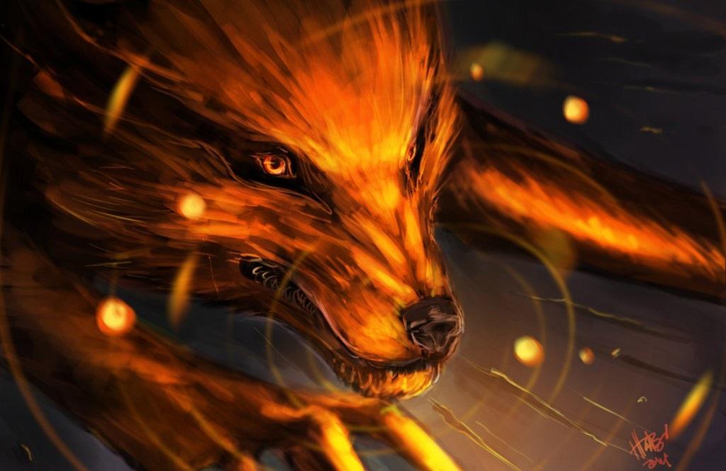 Девятихвостый Лис картинки из Наруто (11)