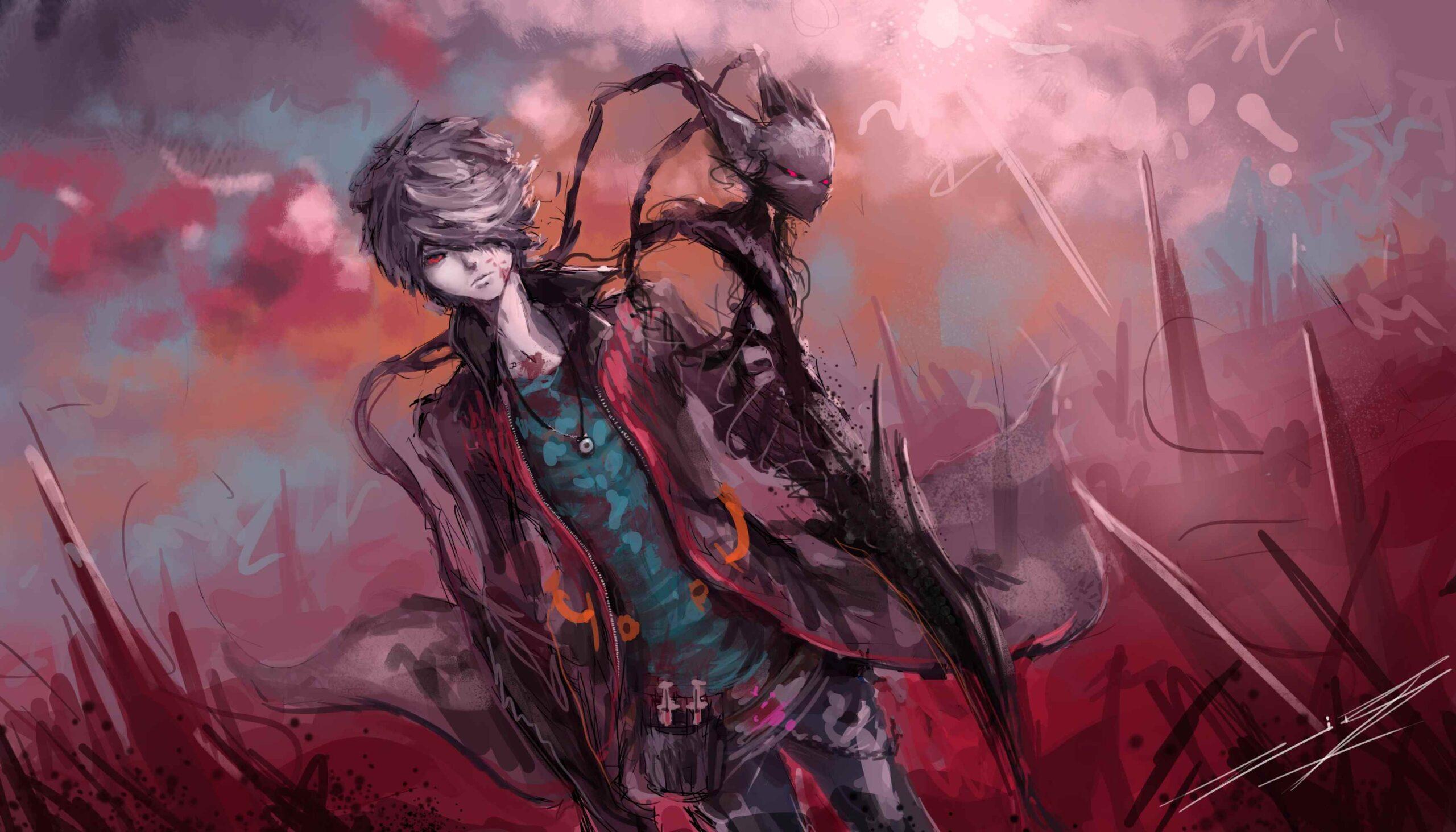 Классные картинки аниме парней демонов 03