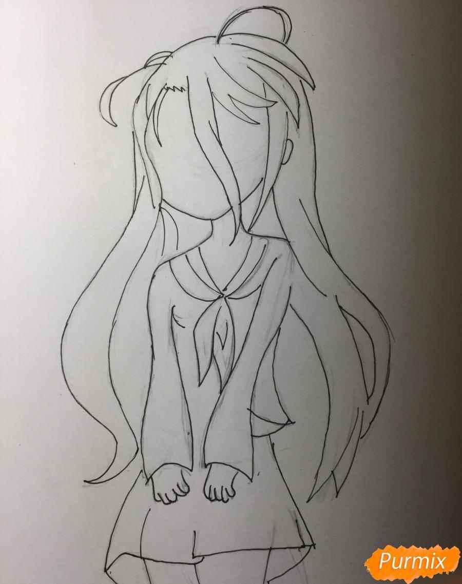 Красивая Шира из аниме нет игры нет жизни, арт 16