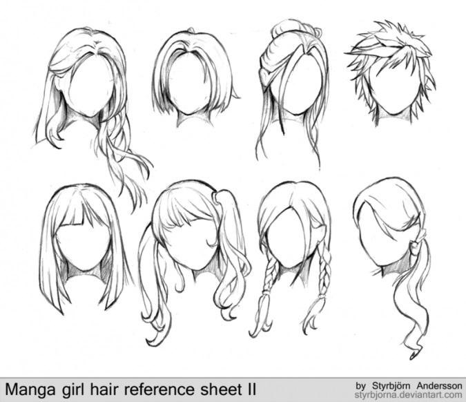 Красивые идеи прически для девочек из аниме (2)