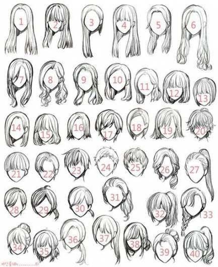 Красивые идеи прически для девочек из аниме (4)