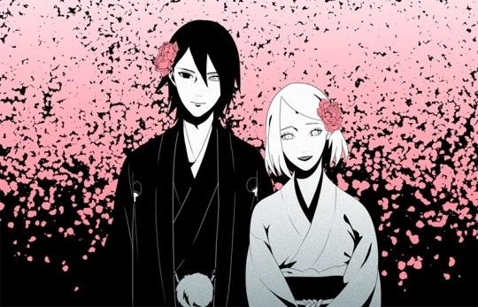 Красивые картинки Сакура и Саске свадьба (10)