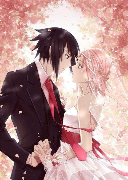 Красивые картинки Сакура и Саске свадьба (11)