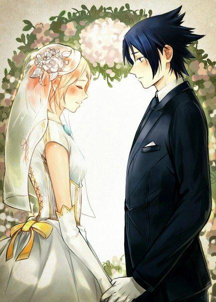 Красивые картинки Сакура и Саске свадьба (12)