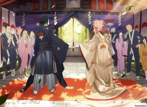 Красивые картинки Сакура и Саске свадьба (13)