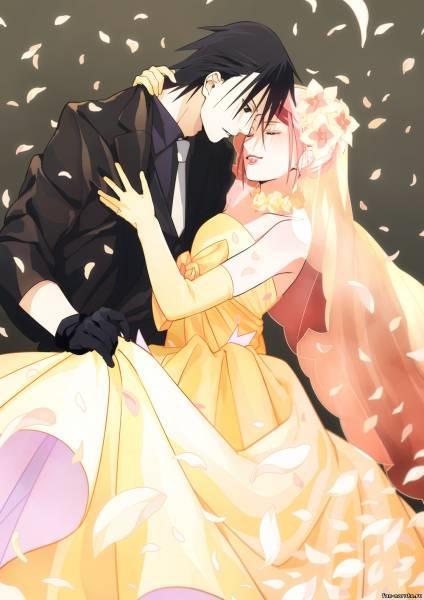 Красивые картинки Сакура и Саске свадьба (17)