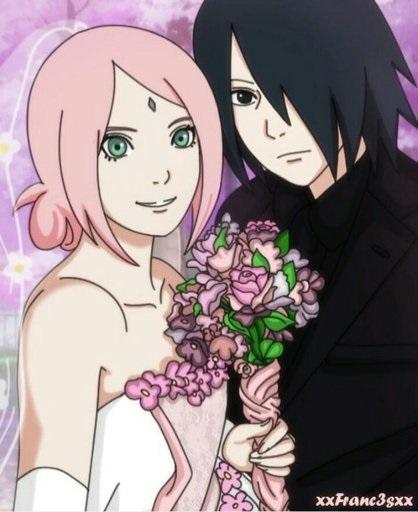 Красивые картинки Сакура и Саске свадьба (19)