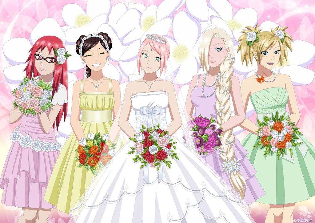 Красивые картинки Сакура и Саске свадьба (2)