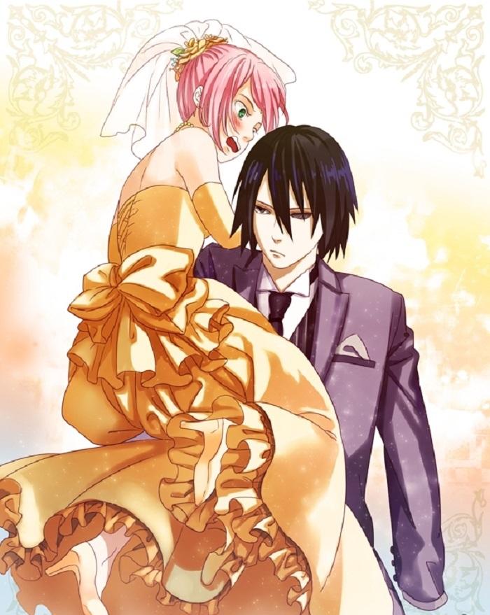 Красивые картинки Сакура и Саске свадьба (4)