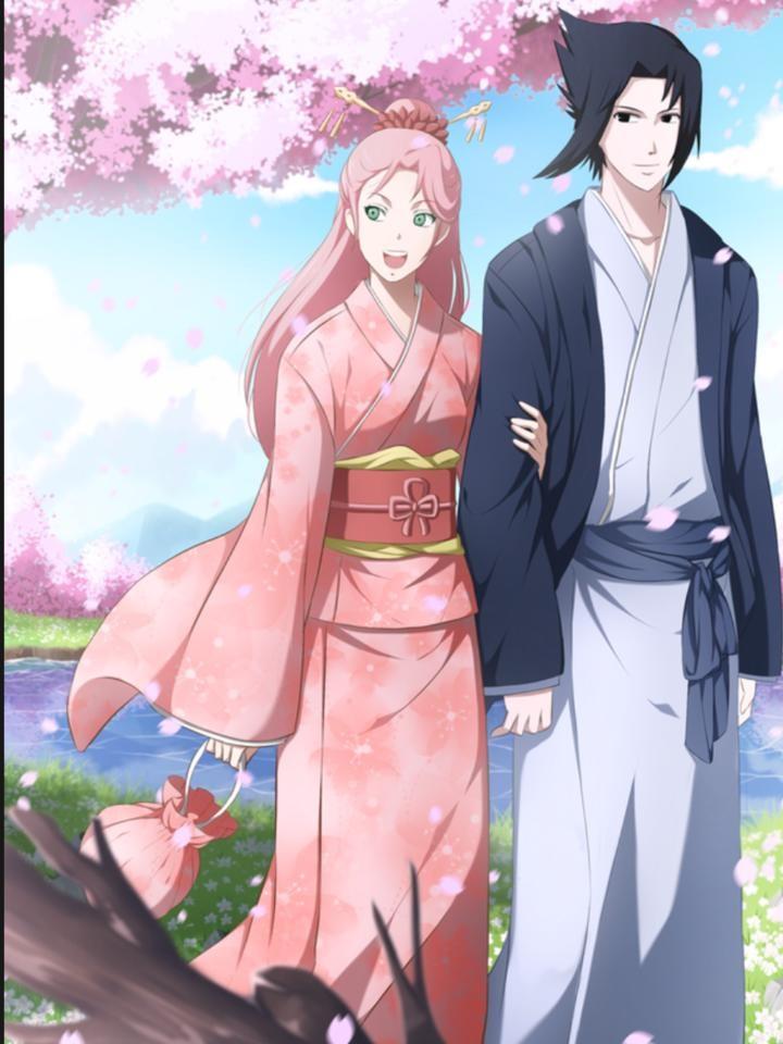 Красивые картинки Сакура и Саске свадьба (5)