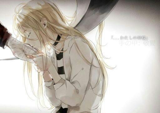 Красивые картинки аниме, где персонажи целуются (13)