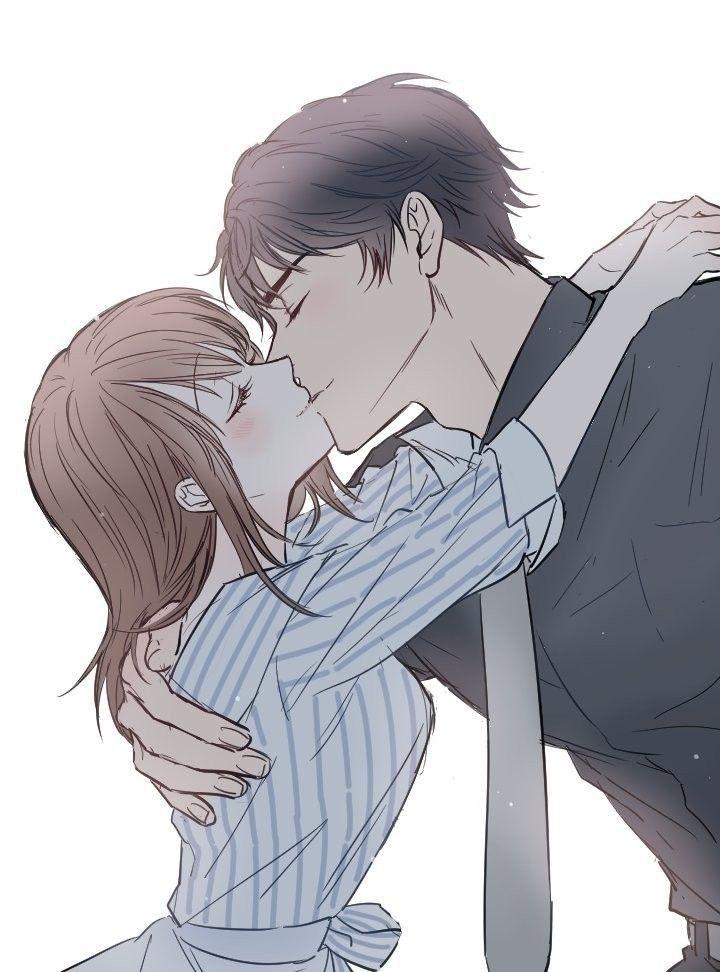 Красивые картинки аниме, где персонажи целуются (17)