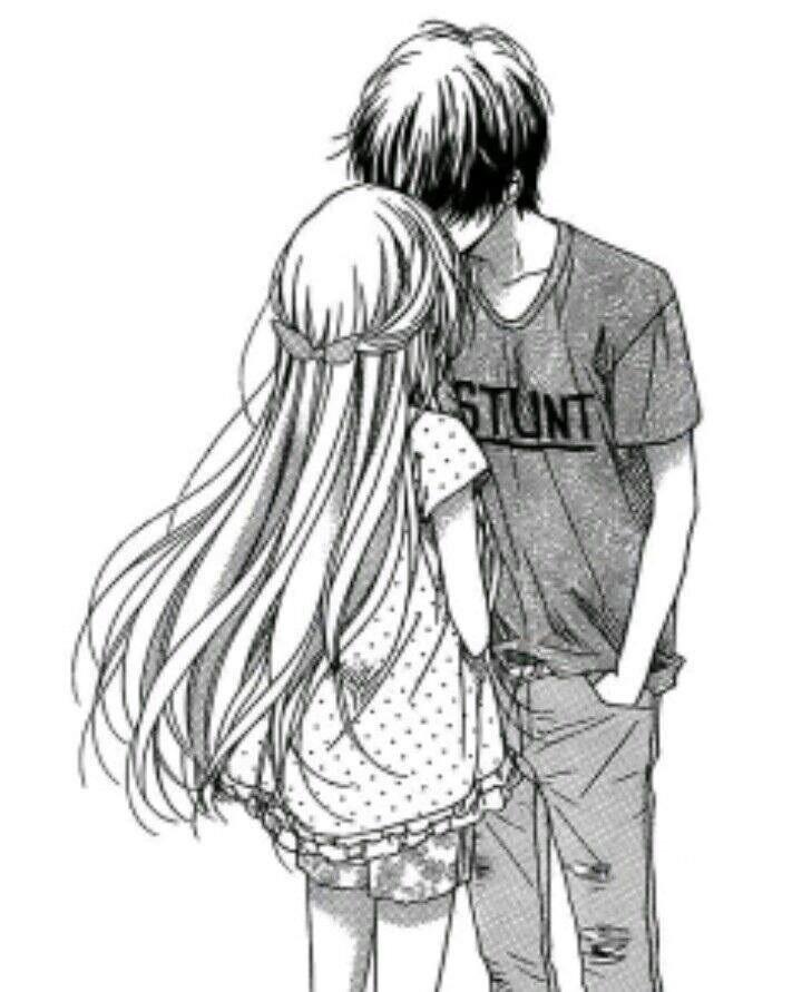 Красивые картинки аниме, где персонажи целуются (20)