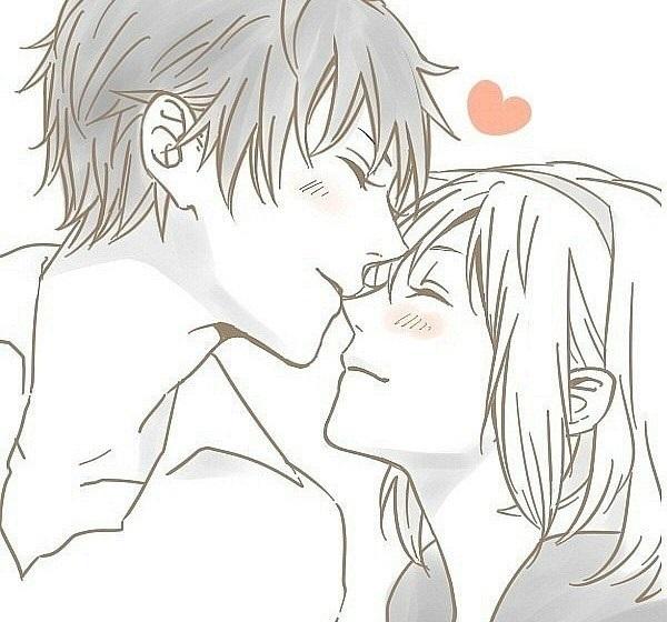 Красивые картинки аниме, где персонажи целуются (22)