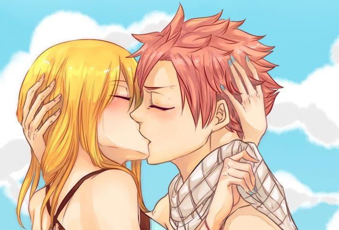 Красивые картинки аниме, где персонажи целуются (25)