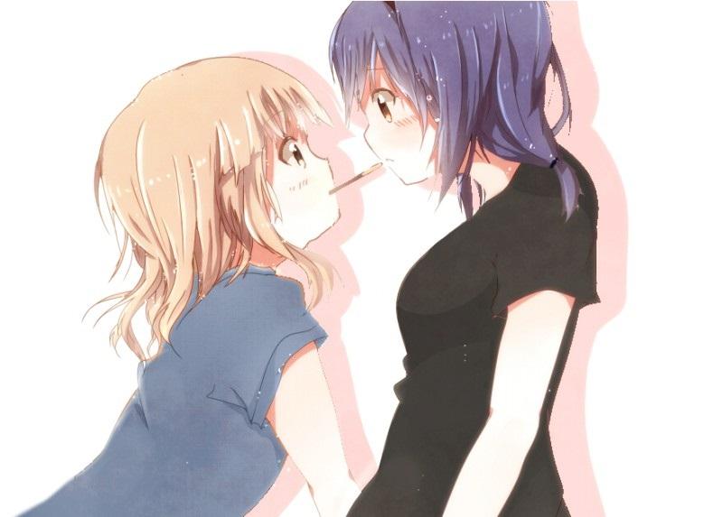 Красивые картинки аниме, где персонажи целуются (3)
