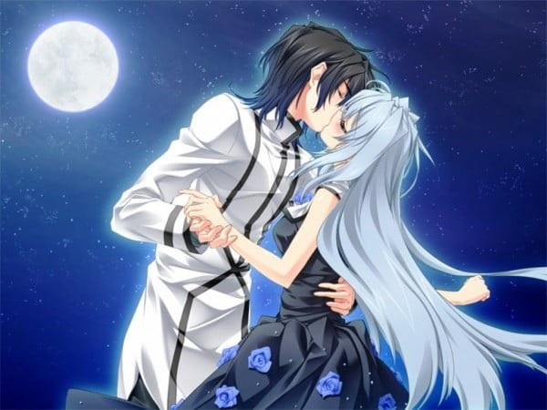 Красивые картинки аниме, где персонажи целуются (5)
