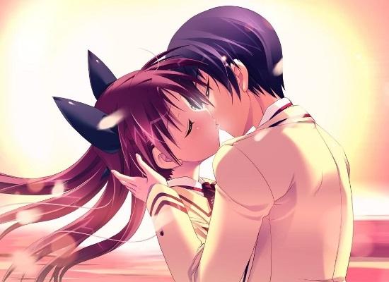 Красивые картинки аниме, где персонажи целуются (9)
