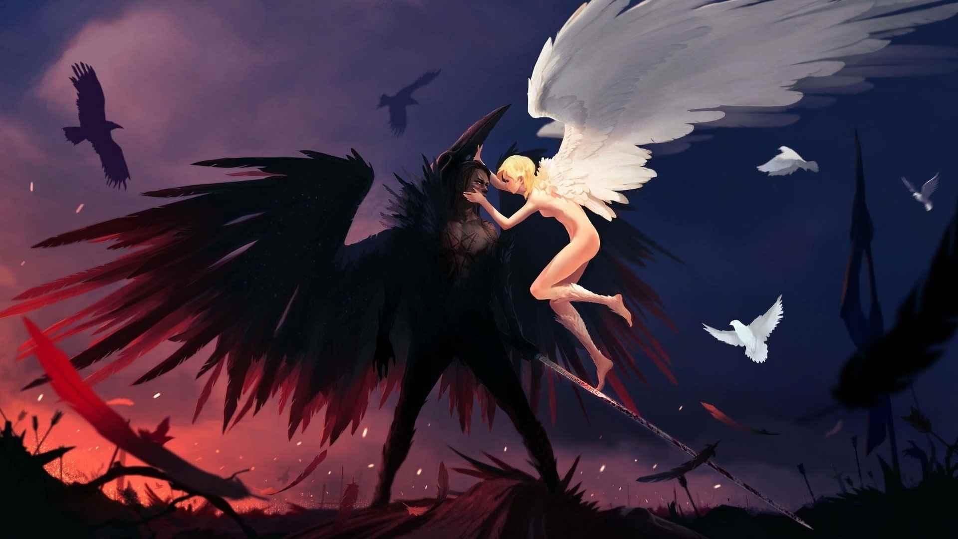 Красивые картинки аниме про демонов и любовь 04