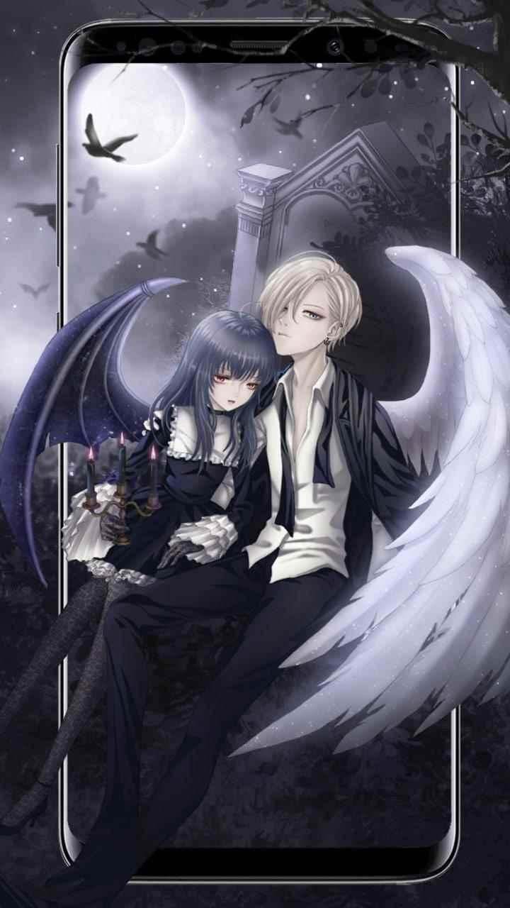 Красивые картинки аниме про демонов и любовь 07