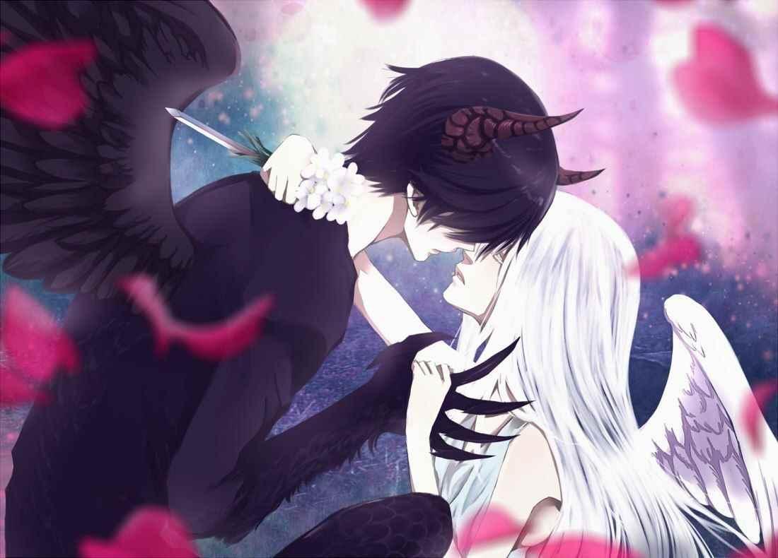Красивые картинки аниме про демонов и любовь 08