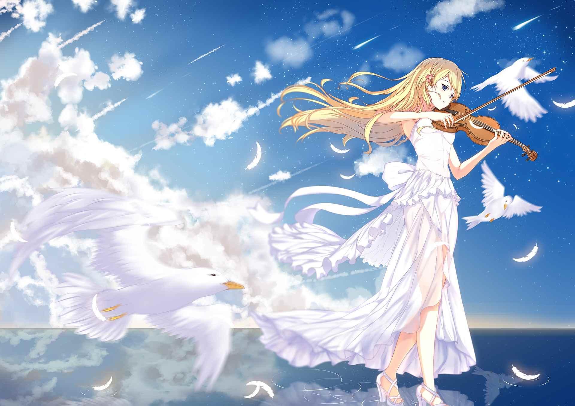 Красивые картинки из аниме твоя Апрельская ложь 01
