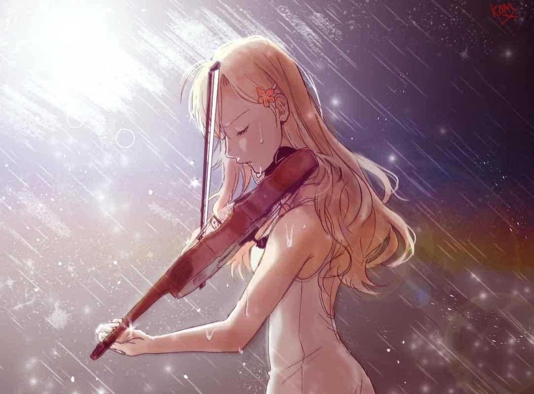 Красивые картинки из аниме твоя Апрельская ложь 03