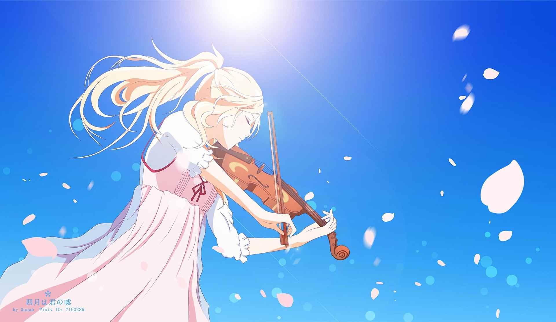 Красивые картинки из аниме твоя Апрельская ложь 12