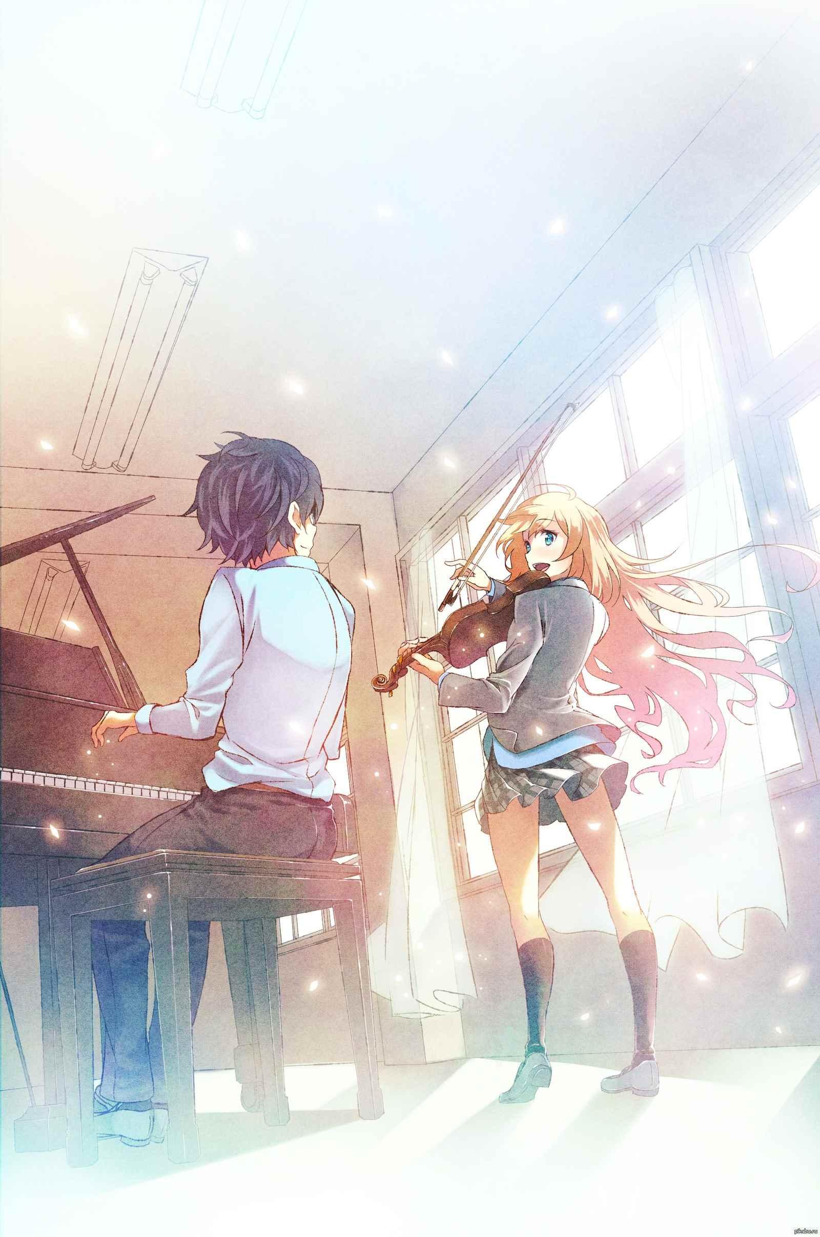 Красивые картинки из аниме твоя Апрельская ложь 14