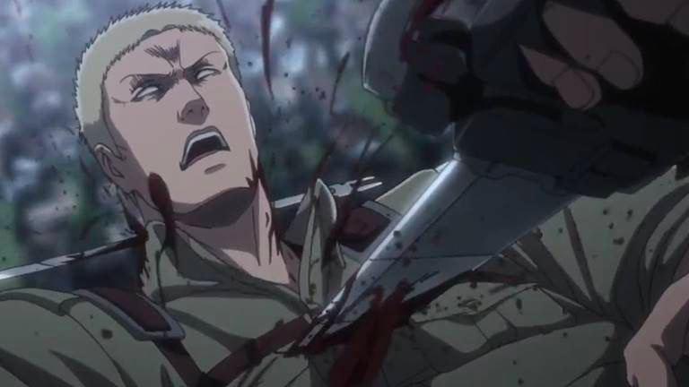 Леви ранил Райнера своим оружеем