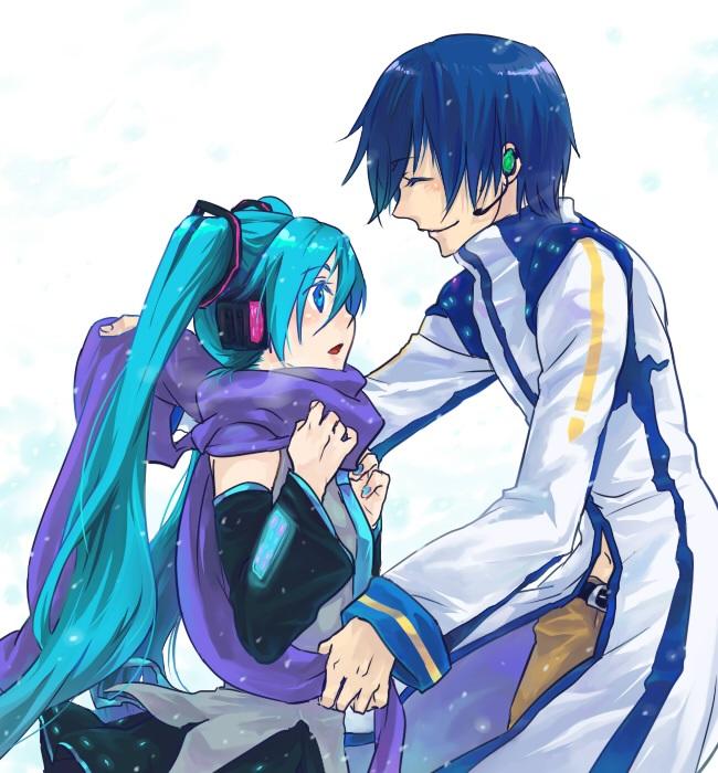 Мику и Кайто любовь   сборка артов (1)