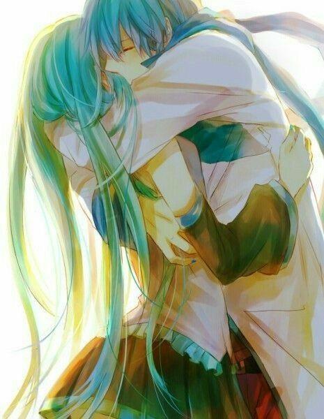 Мику и Кайто любовь   сборка артов (11)