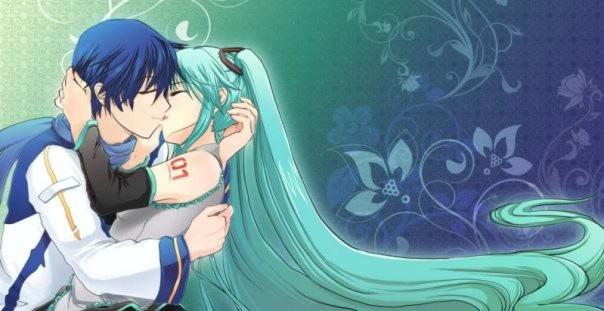 Мику и Кайто любовь   сборка артов (13)