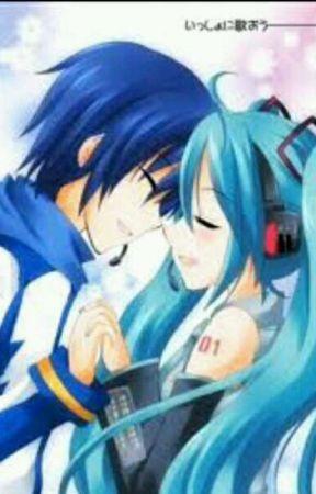 Мику и Кайто любовь   сборка артов (18)
