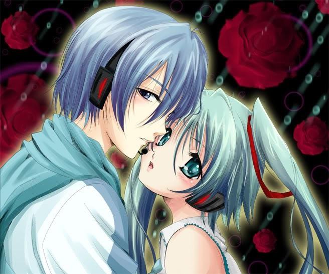 Мику и Кайто любовь   сборка артов (2)