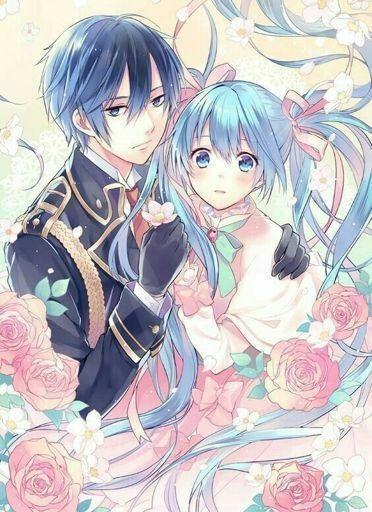 Мику и Кайто любовь   сборка артов (9)