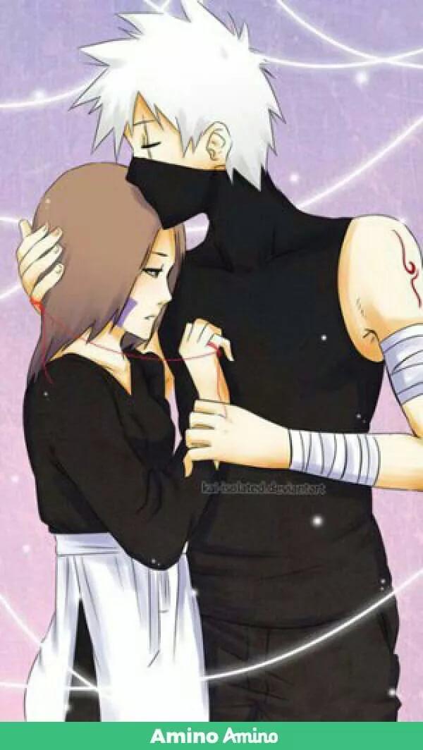 Милые картинки Какаши и Рин, любовь (1)