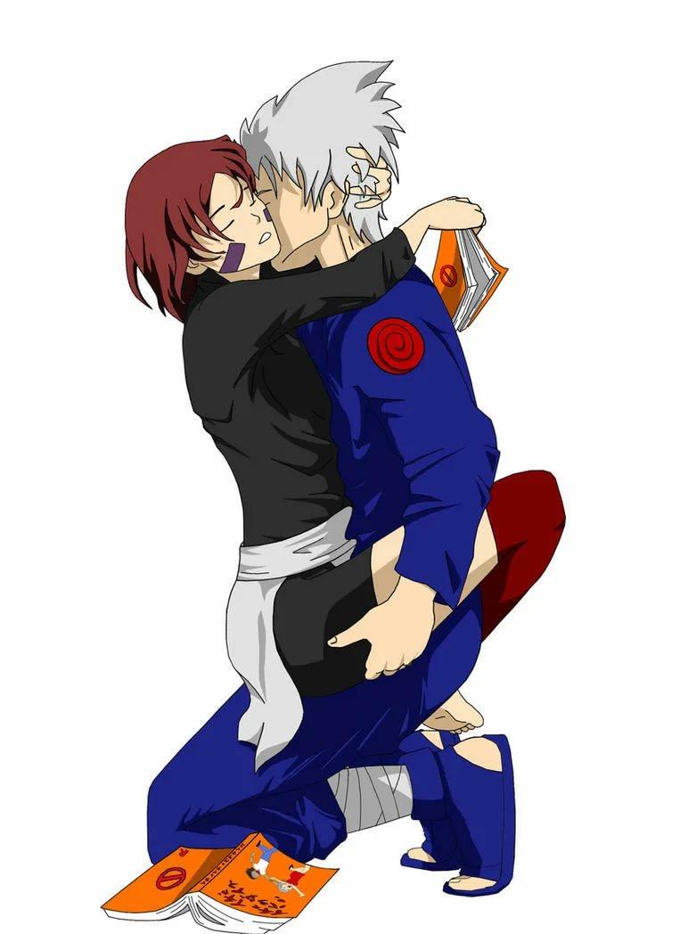 Милые картинки Какаши и Рин, любовь (11)