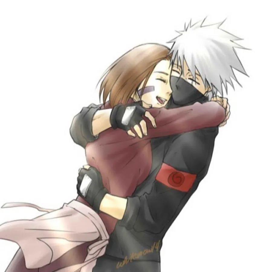 Милые картинки Какаши и Рин, любовь (2)