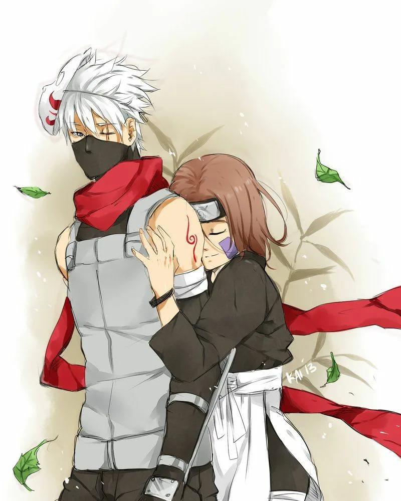Милые картинки Какаши и Рин, любовь (4)