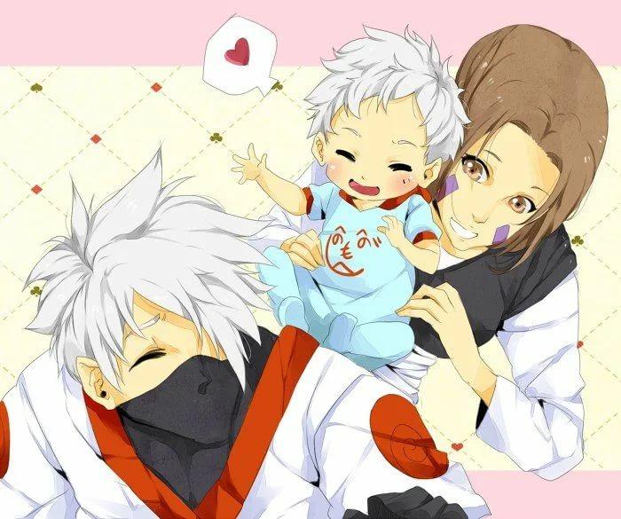 Милые картинки Какаши и Рин, любовь (8)